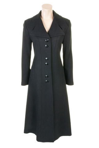 Click for larger image of: Black Long Coat Style: 44441