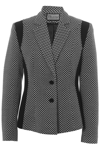 Click for larger image of: Black and White Jacket Style: 44487