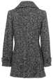 Mouseover to see larger image of: Black and White Coat Style: 44484