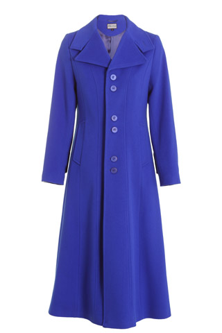 Click for larger image of: Royal Blue Long Coat Style: 44441