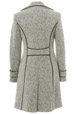Mouseover to see larger image of: White & Black Tweed Coat 3/4 Style: 44474