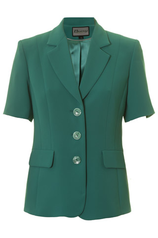 Click for larger image of: Jade Green Short Sleeve Jacket Style: 44477