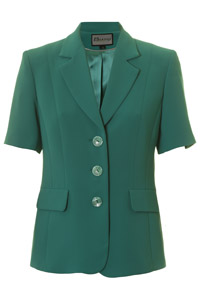 Click to see:Jade Green Short Sleeve Jacket Style: 44477