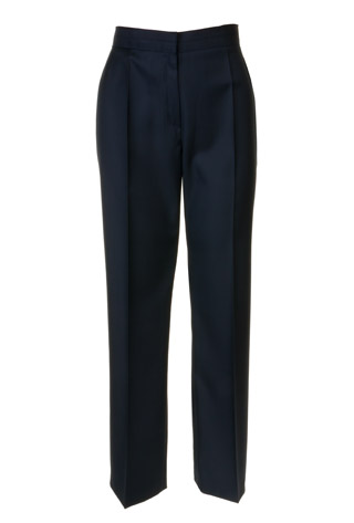 Click for larger image of: Navy Wool Mix Trousers Style: 44443